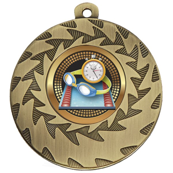 Prism 50mm Swimming Medal