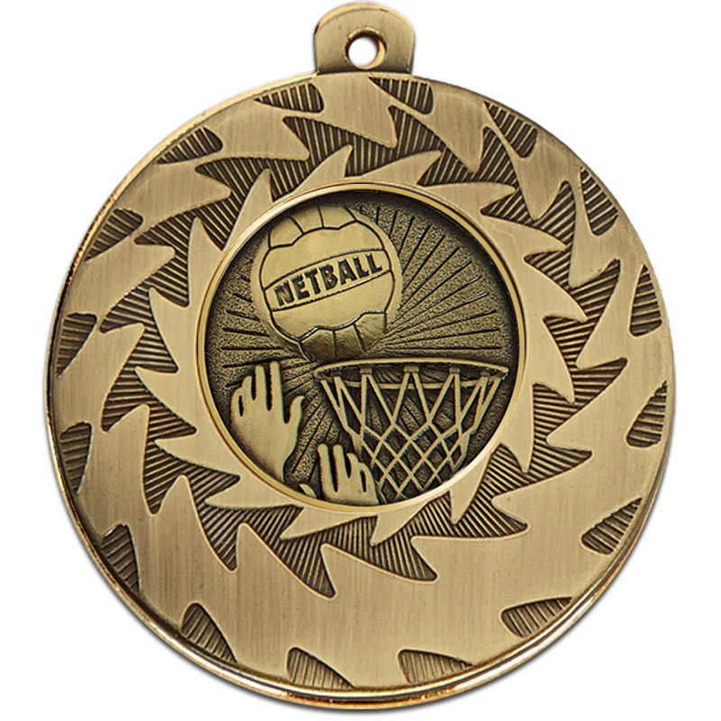 Prism 50mm Netball Medal Bronze