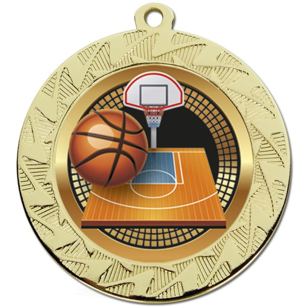 Prism Basketball Medal Gold 70mm