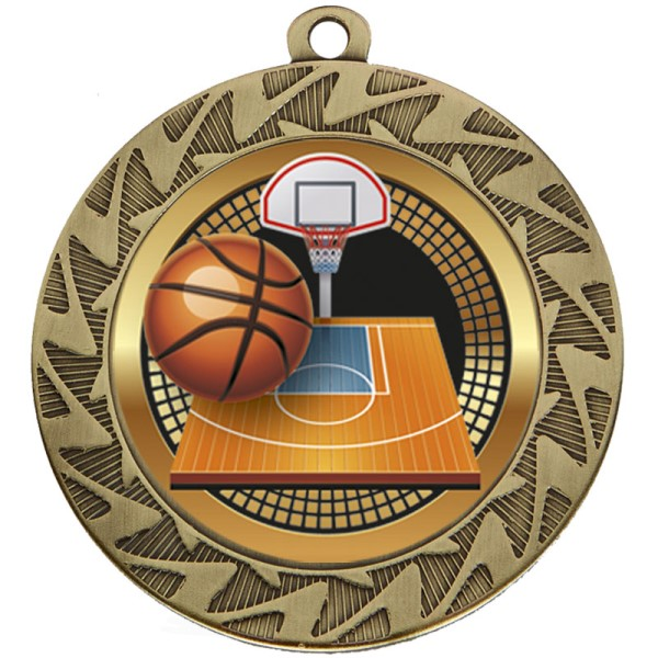 Prism Basketball Medal Bronze 70mm