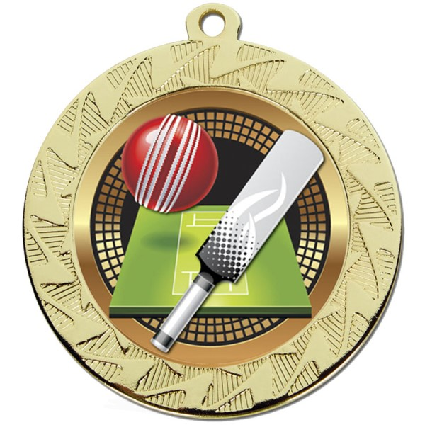 Prism 70mm Cricket Medal Gold