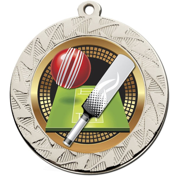 Prism 70mm Cricket Medal Silver