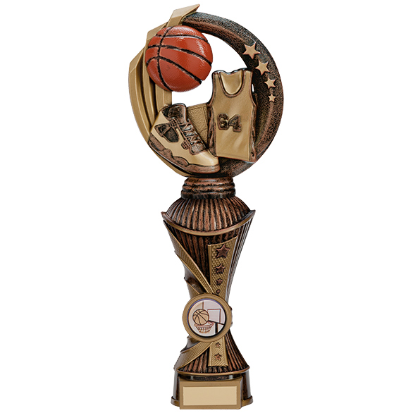 Renegade Basketball Heavyweight Award Antique Bronze & Gold 260m