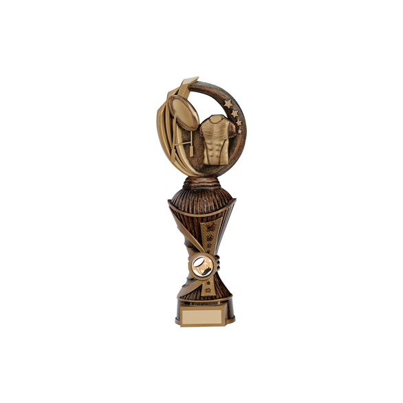Renegade Rugby Heavyweight Award Antique Bronze & Gold 285mm