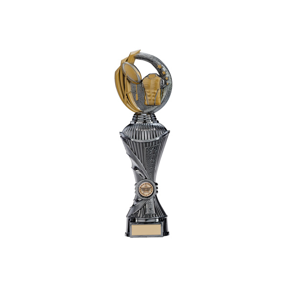 Renegade Rugby Heavyweight Award Gunmetal & Gold 300mm