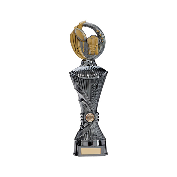 Renegade Rugby Heavyweight Award Gunmetal & Gold 350mm