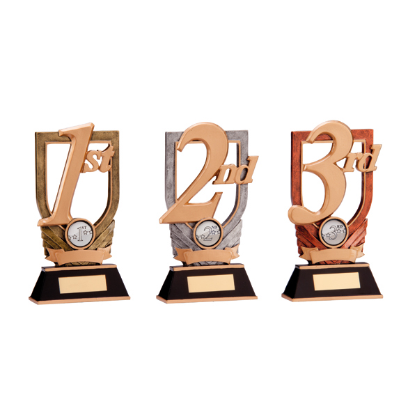 Trojan Series 1st, 2nd, 3rd Place Resin Trophy (SET OF 3)