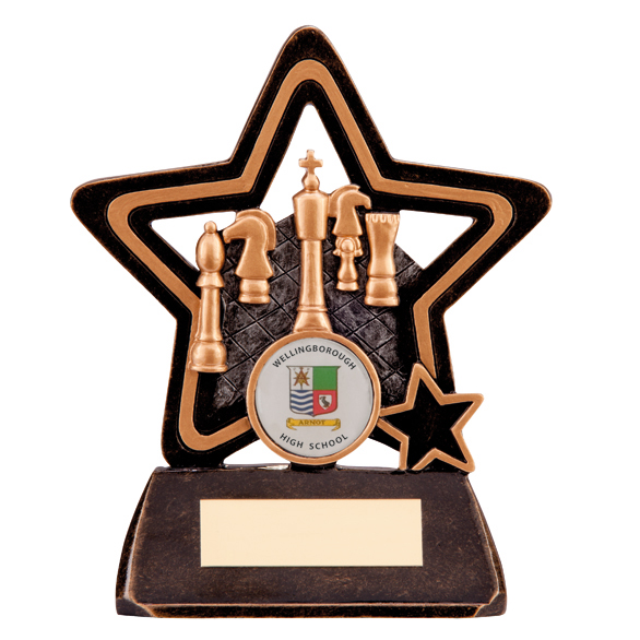 Little Star Chess Plaque 135mm