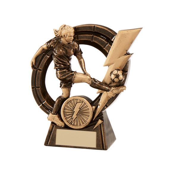 Thunderbolt Striker Football Award Female 125mm