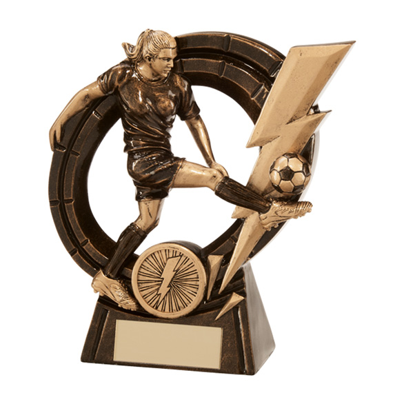 Thunderbolt Striker Football Award Female 145mm