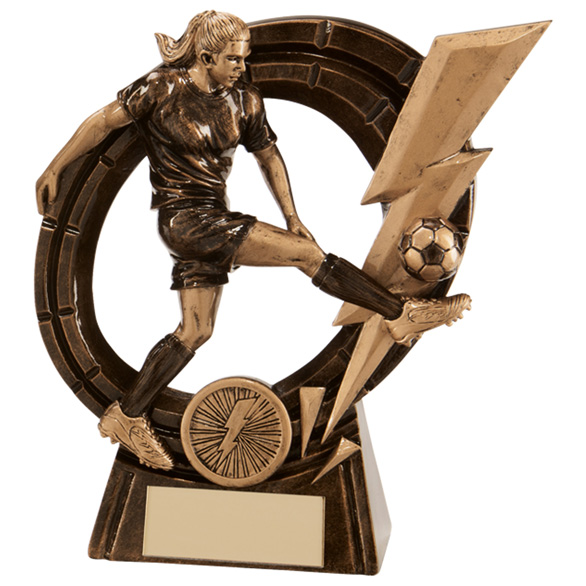 Thunderbolt Striker Football Award Female 165mm