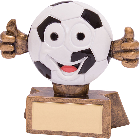 Smiler Football Award 75mm