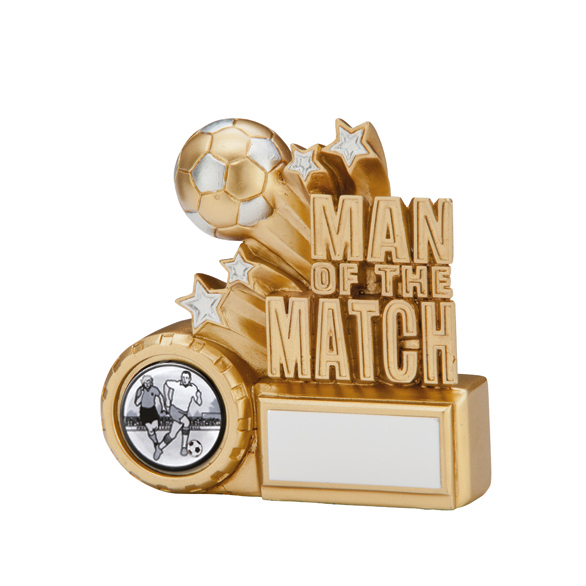 Man Of The Match Football Award 90mm