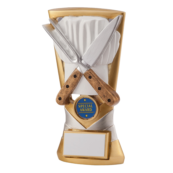 Cooking chef come dine with me catering trophy the cotswold engraver