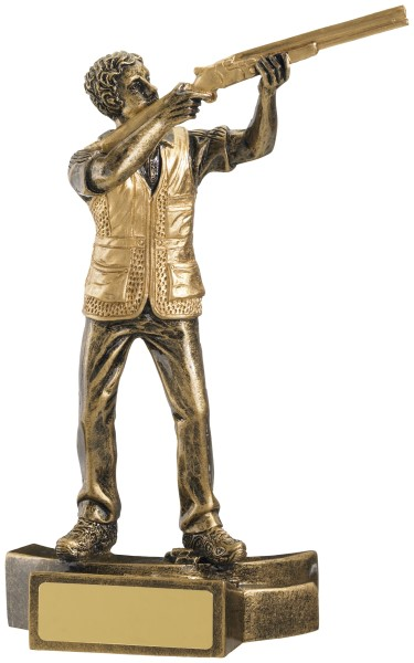 Clay Pigeon Shooting Resin Figure Trophy