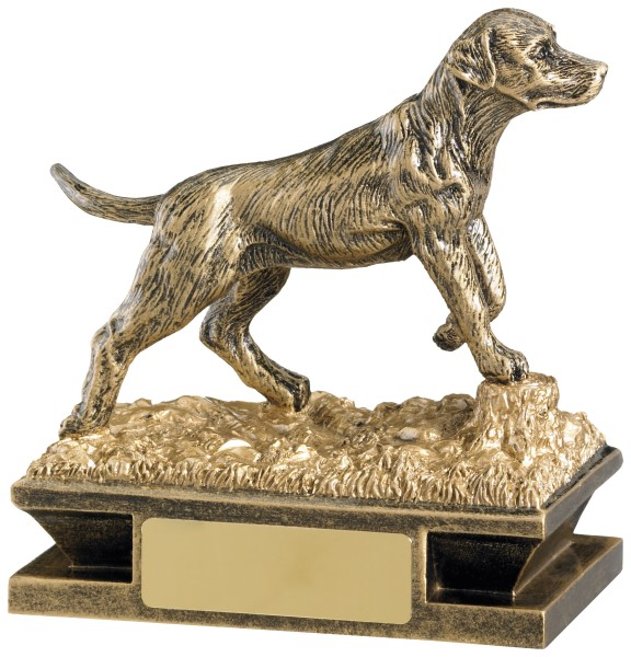 Gun Dog Shooting Resin Figure Trophy