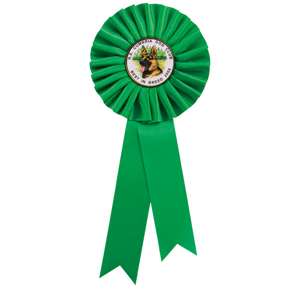 255mm Personalised Centre Rosette Green