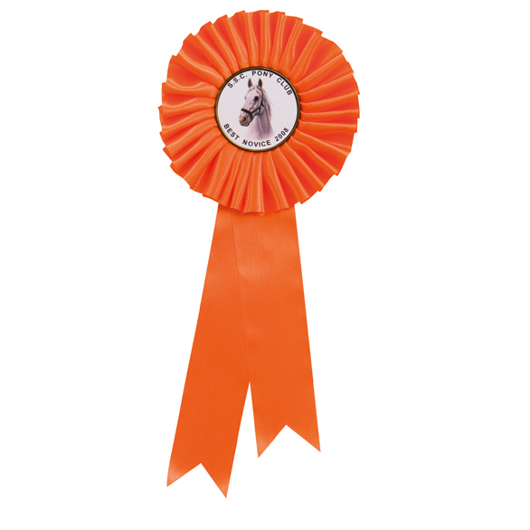 255mm Personalised Centre Rosette Orange