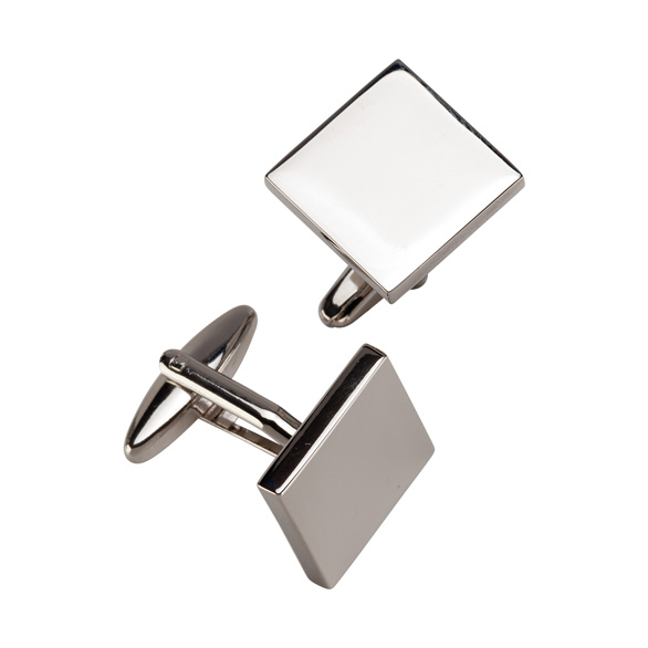 Superior Cufflinks Polished Steel 25mm