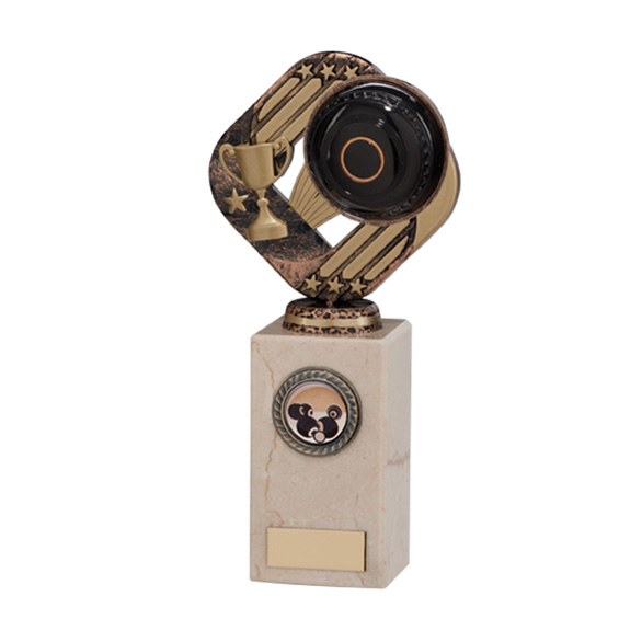 Galaxy Legend Block Trophy Lawn Bowls 210mm