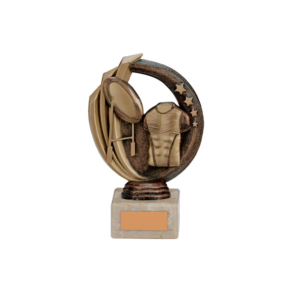 Renegade Rugby Legend Award Antique Bronze & Gold 150mm