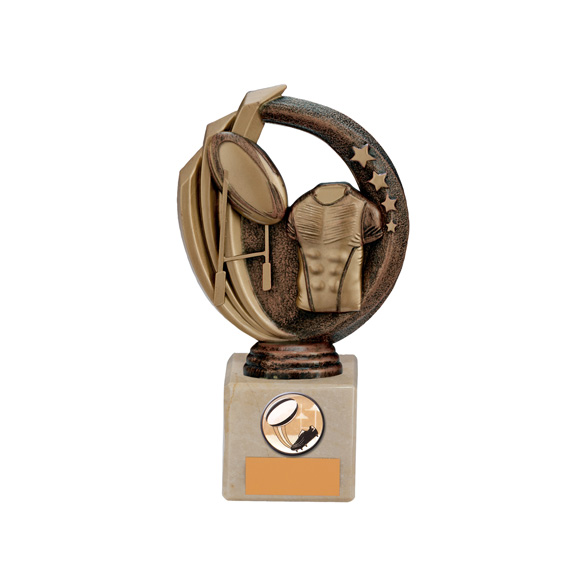 Renegade Rugby Legend Award Antique Bronze & Gold 170mm