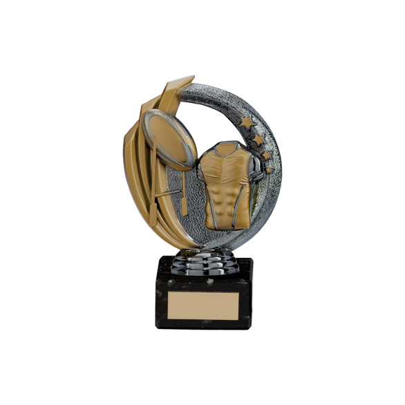 Renegade Rugby Legend Award Gunmetal & Gold 150mm