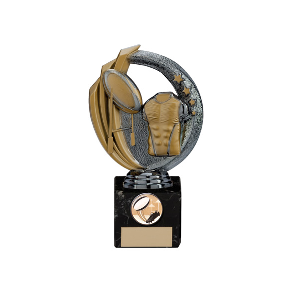 Renegade Rugby Legend Award Gunmetal & Gold 170mm