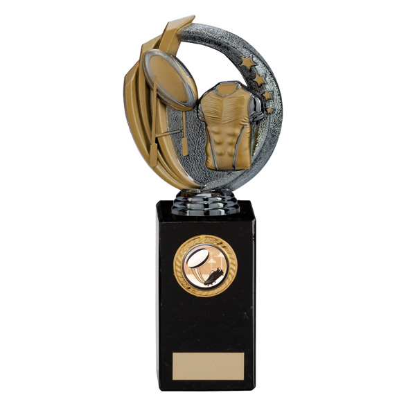 Renegade Rugby Legend Award Gunmetal & Gold 220mm