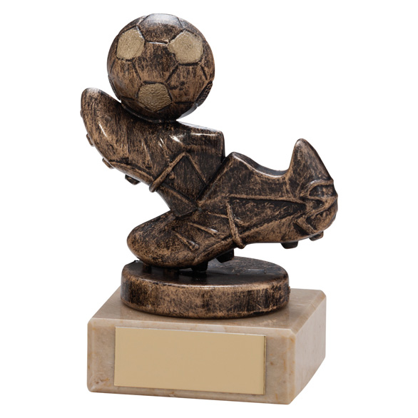 Agility Boot & Ball Football Trophy Bronze & Gold 95mm