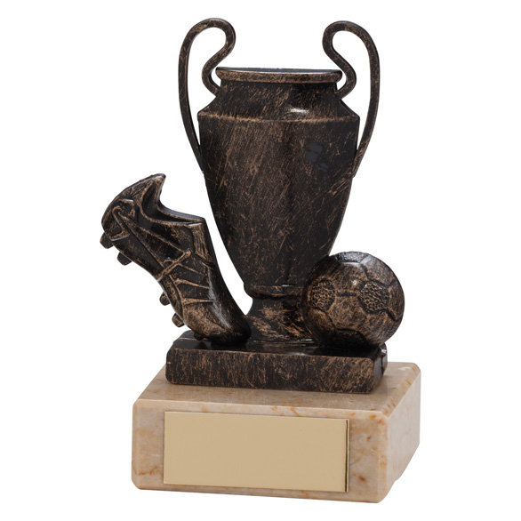 Champions Cup Football Trophy Bronze & Gold 100mm