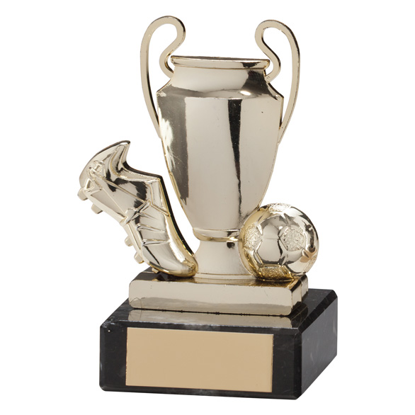 Champions Cup Football Trophy Gold 100mm