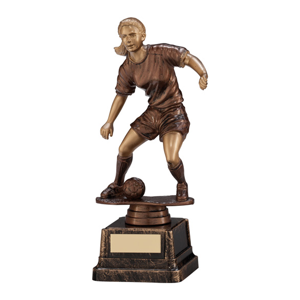 Swerve Female Football Trophy 180mm