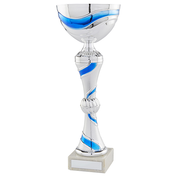 Legacy Cup Silver & Blue 320mm