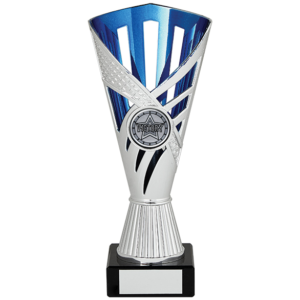 Dragon Trophy Silver & Blue 180mm