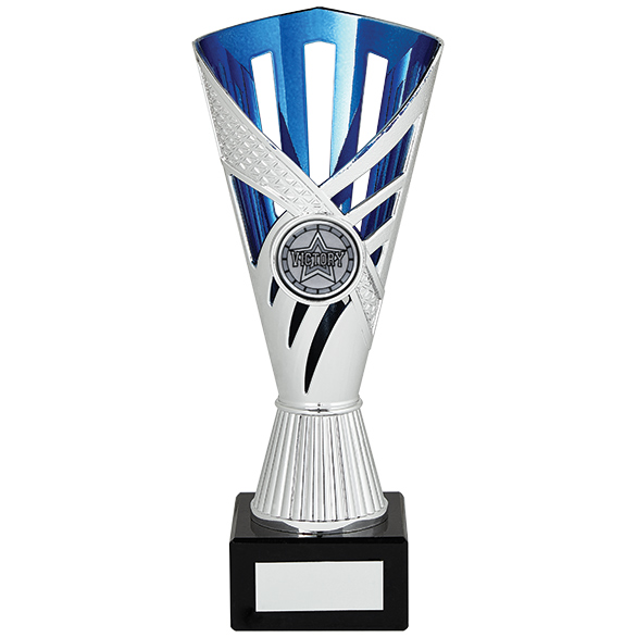 Dragon Trophy Silver & Blue 190mm