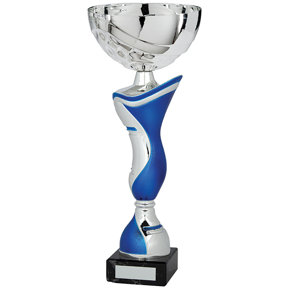 King Cup Silver & Blue 330mm