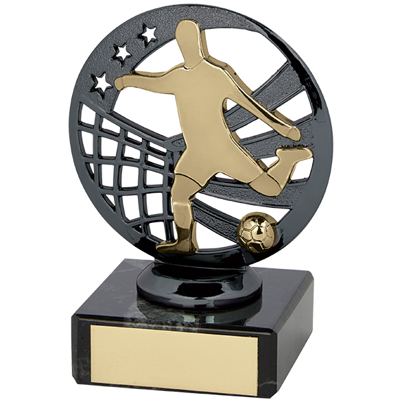 Ranger Football Trophy Gunmetal & Gold 100mm