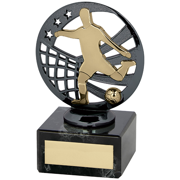 Ranger Football Trophy Gunmetal & Gold 110mm