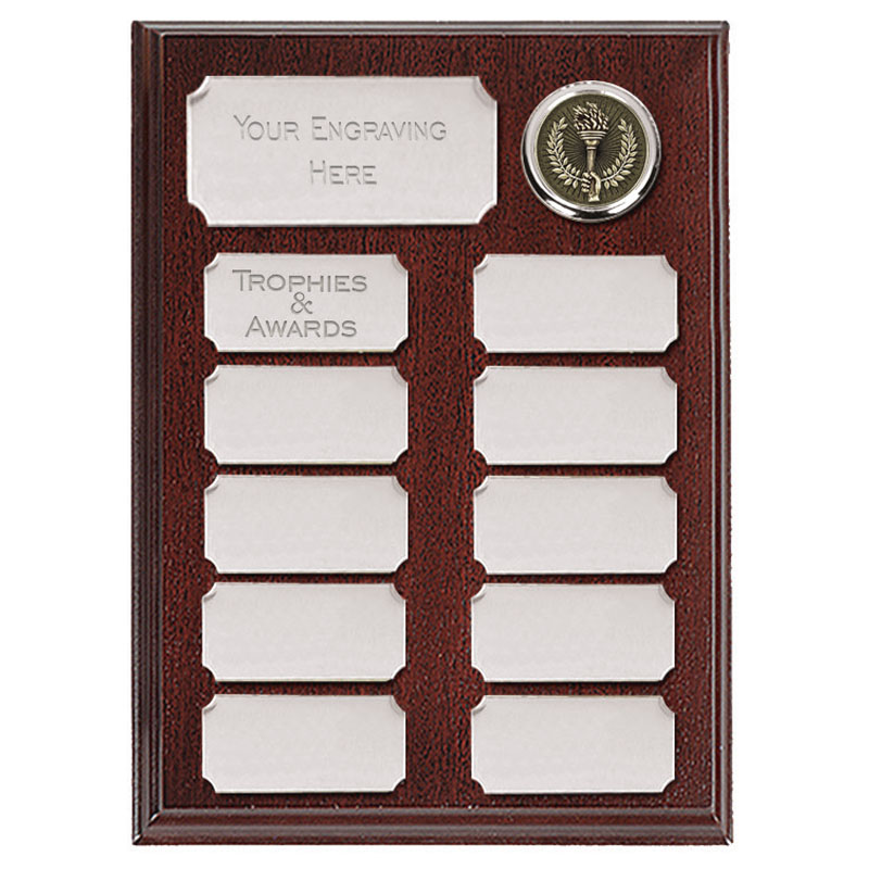 Ashfield Economy Presentation Plaque Silver 200mm