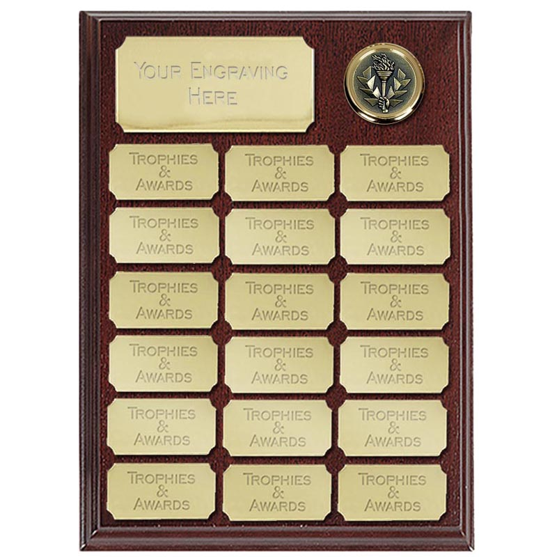 Ashfield Economy Presentation Plaque Gold 230mm