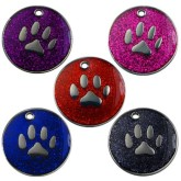 Engraved Glitter Dog Tags