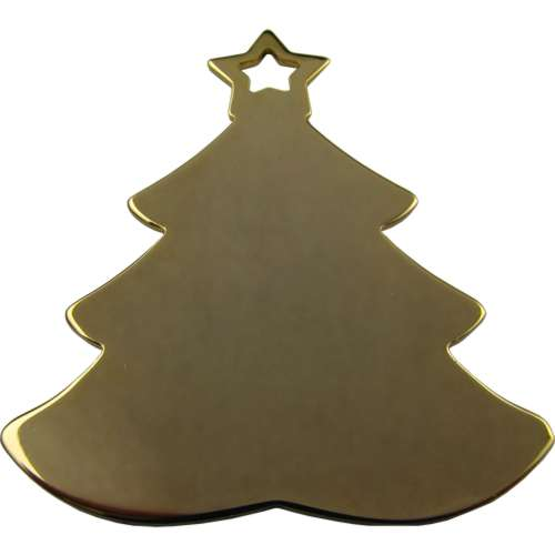 Gold Plated Christmas Tree Decoration
