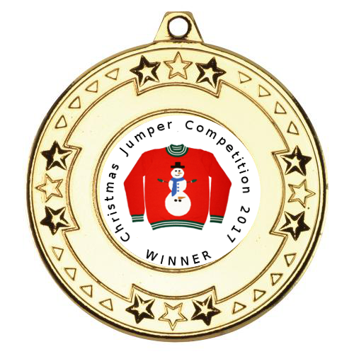 Christmas Jumper Competition Medal with Ribbon